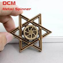 Buy Fidget Spinner Mogen David Style Anti-stress Finger spiner Gyro EDC gifts kids & Adults Autism & ADHD Rotation Hand spinner for $7.05 in AliExpress store