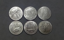 1995 POLAND 2 Zlote FULL SET OF 6 COINS COPY FREE SHIPPING(China)