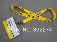 "custom popular star logo neck lanyards id badge holder lanyards,3/8""inch personlized cheap polyester lanyard promotion"