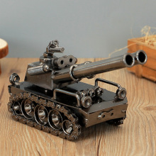 Household Decoration Vintage Tank Model Figurines Metal Crafts Ornaments Practical Birth Gifts Home Bar Furnishing Article Craft(China)