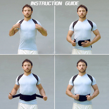 2016 Hot Sale Adjustable Belly Sweat Belt Posture Brace Shoulder Back Support Back Posture Corrector Men Corset by Aptoco