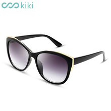 KIKI 2017 New Women Polarized Sunglasses Retro Round PC Brand Design Cat Eye Glasses Luxury Ladies Driving gafas de sol mujer(China)