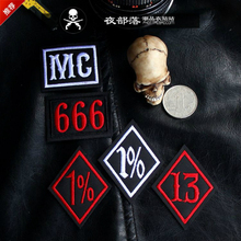5PCS HELLS ANGELS Embroidery Knight Harley metal jacket and vest motorcycle MC patches for clothing parches bages for chothing