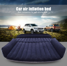 Deflatable Air Inflation Car Bed Mattress Drive Camping Flocking Car-covers PVC Material Travel Car Cover Seat Cover Automobiles