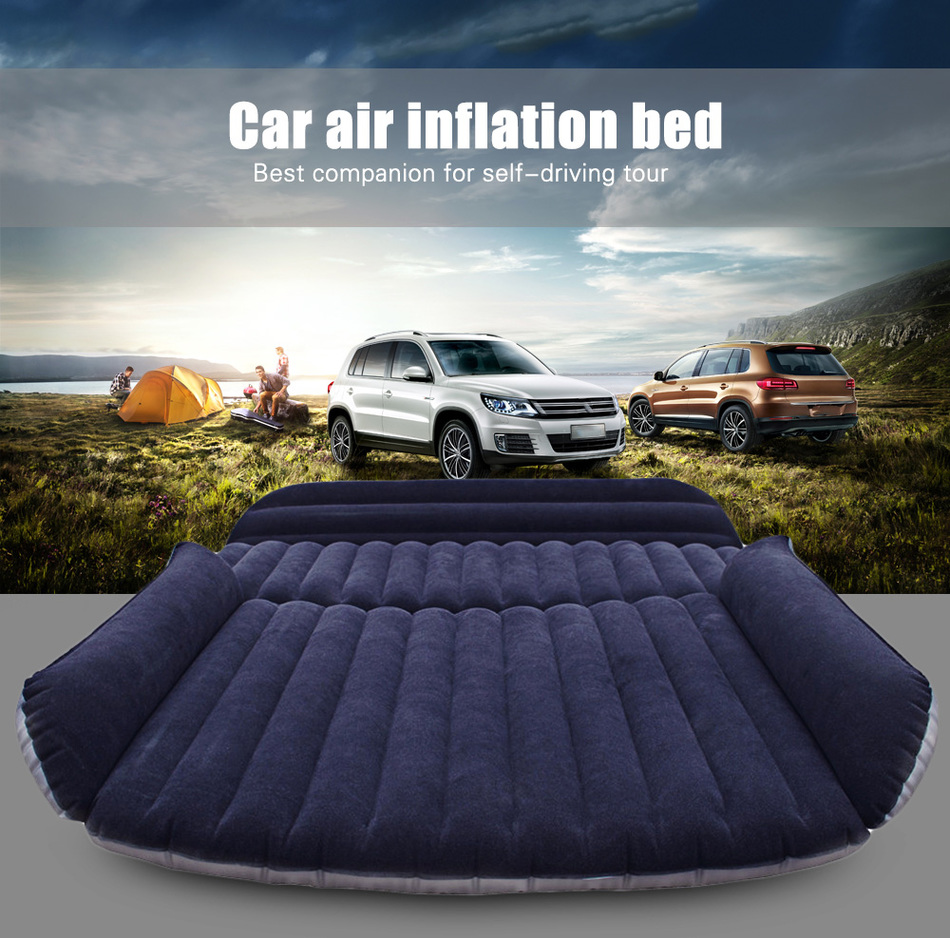 Deflatable Air Inflation Car Bed Mattress Drive Camping Flocking Car-covers PVC Material Travel Car Cover Seat Cover Automobiles<br><br>Aliexpress