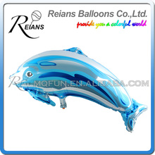 REIANS 80cm cute cartoon sea zoo Dolphin children kids Party birthday decoration aluminum foil metal balloon toys supplies