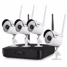 SANNCE 4CH 1080P Wireless NVR Kit 4pcs 1080P 2mp Wifi IP Camera IR-CUT IP66 CCTV Camera home Security System Surveillance Kits(China)