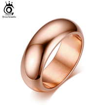 ORSA JEWELS 2017 Hot Fashion Lead & Nickel Free Party Ring Jewelry High Quality Stainless Steel Wedding Band Rings for Man OTR95