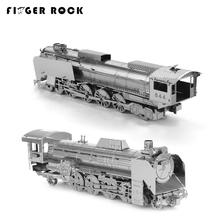 Finger Rock 3D Metal Puzzles DIY Model Steam Train Jigsaws Toys Present Gift Model Building Kits(China)