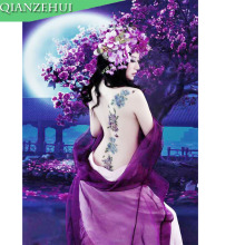 QIANZEHUI,DIY Rhinestone plastic crafts diamond Purple beauty charm diamond painting cross stitch full diamond embroidery