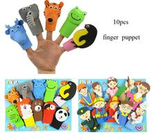 2 patterns Children cartoon animal profession finger puppet/Kids EVA story telling hand puppet for classic toys, 10pcs/pack(China)