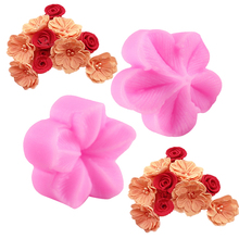 Plum Flower Petal Silicone Mold Fondant Cake Soap Candle Decorating Embossing Mold Kitchen Baking Gadgets DIY Bakeware Tools(China)