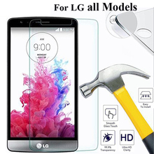 0.3mm Ultra thin Clear Tempered Glass Screen Protector For LG G3 G4 mini Q6 D685 X Stylus Leon V10 google Nexus5 protective film(China)