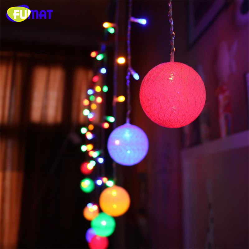 Curtain Fairy Little Wool Ball String Lights LED 16pcs Pendant Ball  Lights RGB Home Decor Party Romantic Lights Xmas Lamp<br><br>Aliexpress