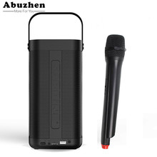 Abuzhen Bluetooth Speaker Wireless Portable Music Sound Box Subwoofer Loudspeakers Handsfree Music Box Support FM TF Card(China)