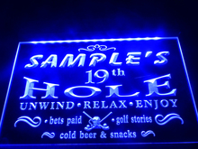 DZ010- Name Personalized Custom Golf 19th Hole Bar Beer Neon Sign hang sign home decor crafts(China)