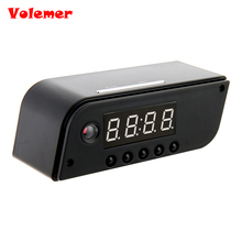 Volemer Hot Fashion Mini Camera Clock Alarm AP/STA 1280x720 Night Vision Dowmland Vedio Wifi Cam IP Mini DV DVR Camcorder PK Z10(China)