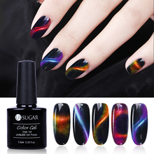 UR SUGAR 7.5ml 3D Chameleon Cat Eye Magnetic Gel Magic Stick Gradient Effect Soak Off UV LED Nail Gel Polish Lacquer(China)
