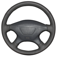 Black Artificial Leather Car Steering Wheel Cover for Mitsubishi Pajero Sport 2004 Montero Sport 2004