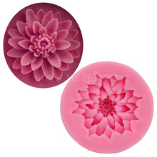 Flower Lotus Shape Silicone Fondant Soap 3D Cake Mold Cupcake Jelly Candy Sugar Chocolate Decoration Baking Tool Moulds FQ1911(China)