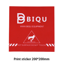BIQU 200*200MM 3D Printer Accessories Red Painter Print Bed Tape Print Sticker Build Plate Tape For 3D Printer MK2B MK3 Heatbed(China)