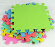 Manufacturer direct EVA green floor children puzzle mat 10 tablets 30cmx30cmx0.8cm
