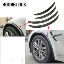BOOMBLOCK 2pcs/set Car Tire Eyebrow Carbon Fiber Stickers Mercedes W204 W210 AMG Benz Bmw E36 E90 E60 Fiat 500 Volvo S80