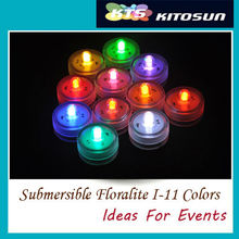 50pcs/Lot Battery Operated Slow Color Changing RGB Submersible LED Tea Light