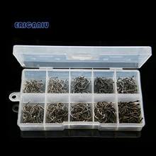 500pcs Carbon Steel Carp Fishing Jig Hooks with Barbs Hole Fly Fishing Tackle Box 3# -12# 10 Sizes Pesca Fish Hooks 526