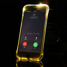 Newest Transparent Soft TPU LED Flash Light Up Case Remind Incoming Call Cover Shell For iPhone 6 6S Plus 5 5S Samsung S7/S7edge(China)