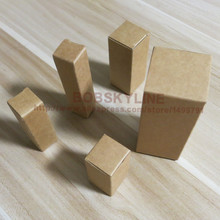 100pcs-2*2*10cm Kraft Paper Box Lipstick Essential Oil Perfume Sprays sample packaging box