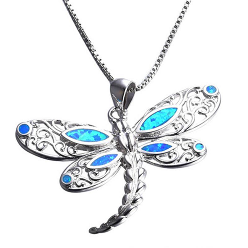 Fashion Silver Filled Blue Imitati Opal Sea Turtle Pendant Necklace for Women Female Animal Wedding Ocean Beach Jewelry Gift 5