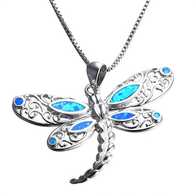 Fashion Silver Filled Blue Imitati Opal Sea Turtle Pendant Necklace for Women Female Animal Wedding Ocean Beach Jewelry Gift 5