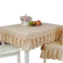 Very luxurious Gold jacquard table cloth square coffee table cloth hotel tablecloth 130x180cm can be customized