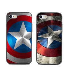 Marvel Captain America Design Soft silicone TPU Phone Case Cover For iPhone 5 5S 6 6S Plus 7 7Plus Back Cover Capa Coque