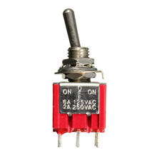9PIN 3PDT ON/OFF/ON Mini Toggle Switch 6A 125VAC/2A 250VAC Electric Guitar Circuit Selector Switch Guitar Parts & Accessories(China)