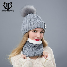 BOOMOVE New Beanies Women Girl Winter Hats Crochet Cap Fur Knitted Pompons Ball Warm Gorros Thick Female Cap Drop Shipping(China)