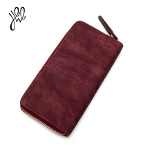 PU Leather Women Wallet 2017 New Arrival Famous Brand Designer High Quality Long Zipper Ladies Purses Wine Red Pattern 500755(China)