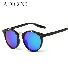 ADIGOO Brand Designer Women Sunglasses Women Oval Lens Round Sun Glasses 8 Colors Men Retro Vintage Glasses Oculos Goggles