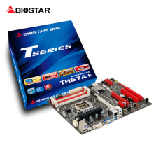 BIOSTAR Used Motherboard TH67A+ LGA1155 1155 Pin DDR3 16bg Desktop motherboard TH67A+ Ver. 6.x 100% X.D.C solid capacitor no box