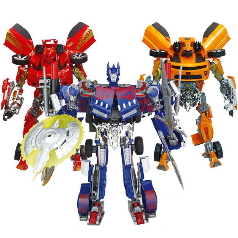 42cm Height Big Size Sound and Light Transformation Deformation Robot Truck Sports car Model Toy Action Figures Toys<br>