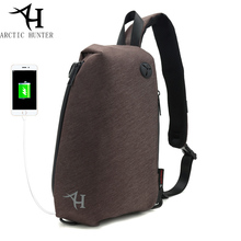 ARCTIC HUNTER Brand Chest Bag Crossbody Bags for Men Messenger USB Charge Waterproof Nylon Casual Shoulder Bag Christmas Gift(China)