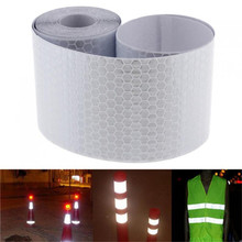Hot Car Decoration Motorcycle Reflective Tape Stickers Styling for Automobiles Safe Material Safety Warning Tape 5x300cm(China)