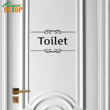 Sign Of Toilet Wall Stickers Adhesive Door Stickers For Bathroom Vinyl Wall Decals Words Design