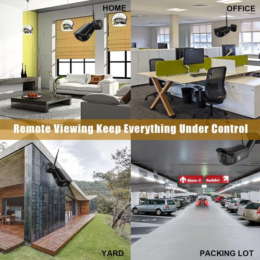 JOOAN 4CH CCTV System Recorder 4PCS 1080P Outdoor Weatherproof Security IP Camera 4CH NVR DayNight Video Surveillance Kits (2)