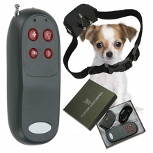 4 In 1 Remote Small Med Dog Training Shock Vibrate Collar Anti Bark Trainer PT0349(China)