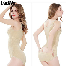 Women shapers Hip opening Slimming sexy Bodysuit Body Shaper Underbust Adjustable Straps Tummy Waist Cinchers Shaper VsiHz(China)