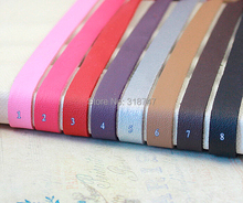 10MM single side Flat String Imitation Leather Velvet Cords Ropes Garment colors 1yard/lot 013006023