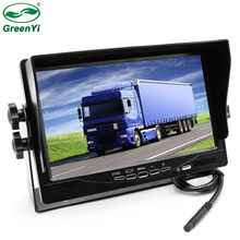 GreenYi DC12~24V Truck Bus HD 800X480 Digital Screen 7 Inch TFT LCD Car Parking Monitor With Iron Bracket 2 RCA Video Input(China)