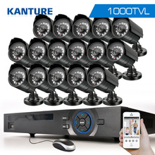 16Channel AHD HDMI 1080P dvr system HD 16pc CMOS 1000TVL outdoor security Surveillance camera kit 16ch 1080P NVR USB 3G WIFi dvr
